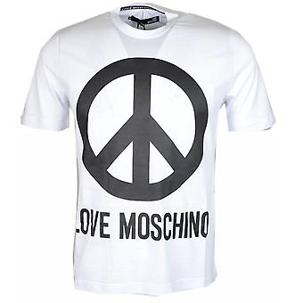 Moschino Cotton Printed Logo White T-shirt