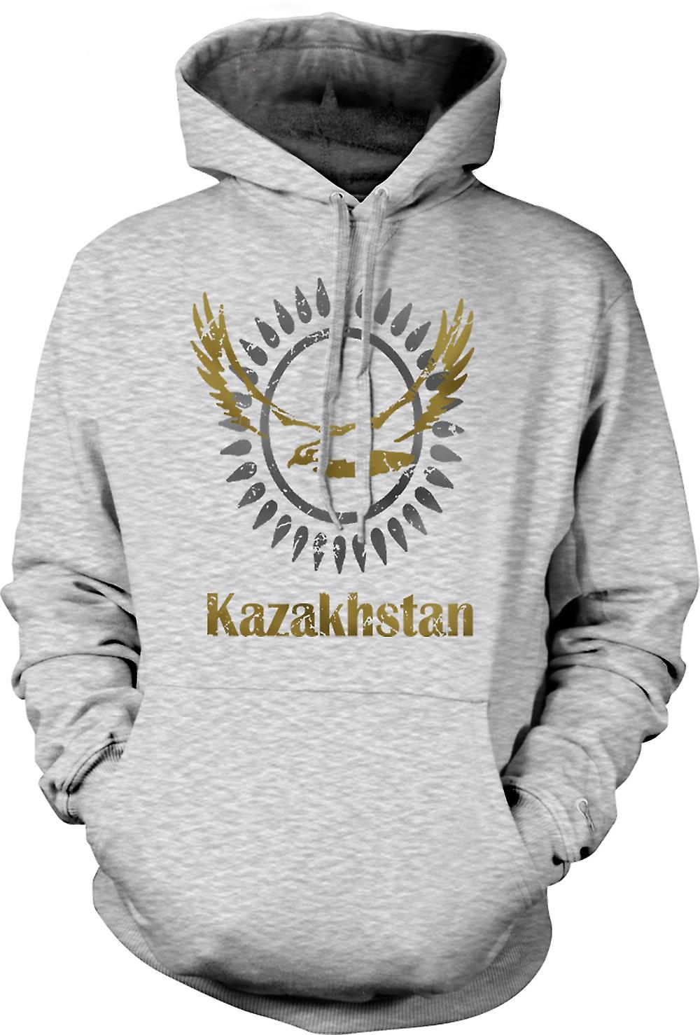 Mens Hoodie - Kazakhstan - freddo di disegno divertente