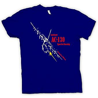 Mens T-shirt - Lockheed Ac0 Spectre Gunship