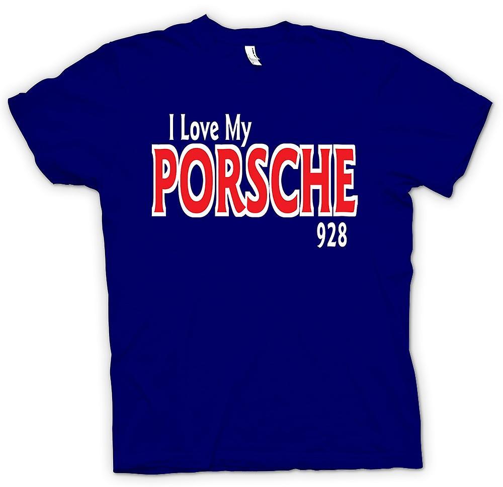 Heren T-shirt - Ik hou van mijn Porsche 928 - auto liefhebber