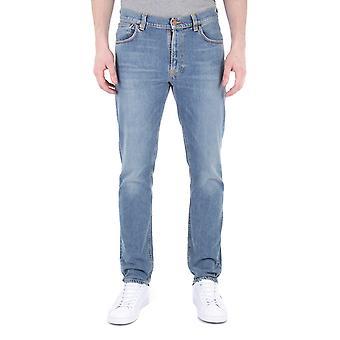 Nudie Jeans Mitte Stein Komfort Slim Fit Jeans