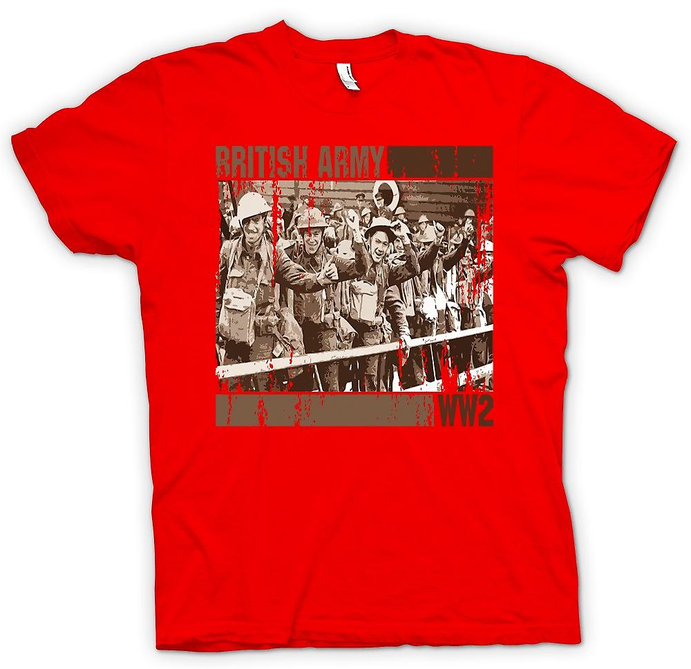 Herr T-shirt-brittiska armén World War 2