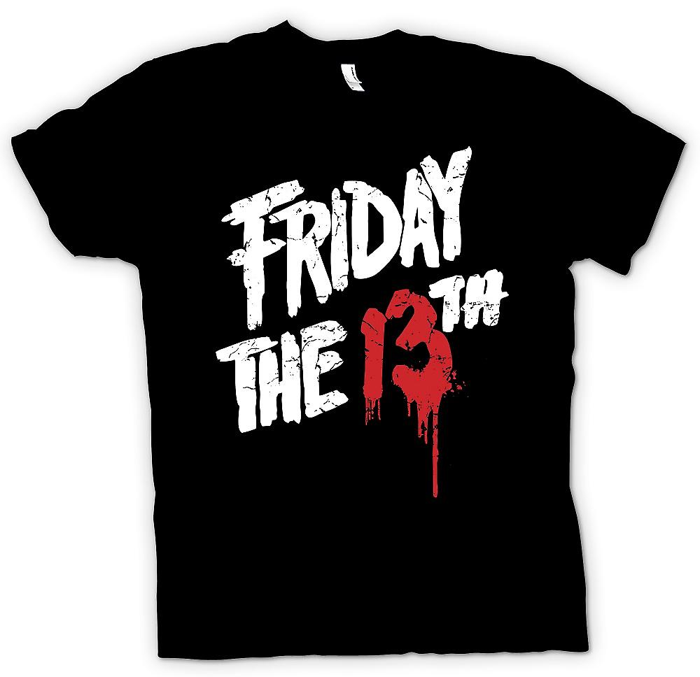 Mens T-shirt - Friday The th - Blood Logo
