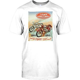 Jawa Vinatge Motorcycle Poster - 350 Mens T Shirt