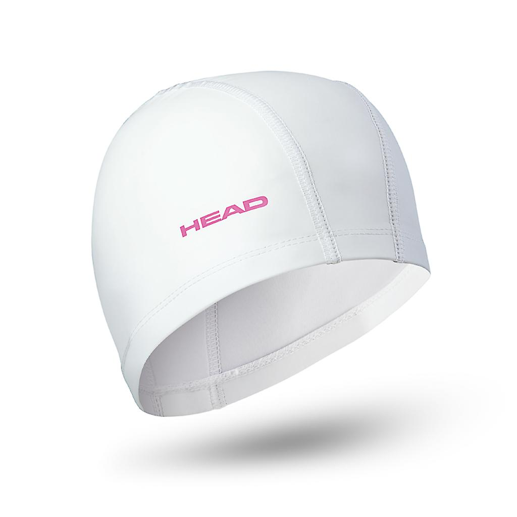 Head Nylon/Lycra PU Coating Swim Cap - White