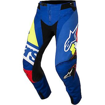 Alpinestars Blue-Red-Fluorescent 2018 Techstar Factory MX Pant