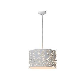 Marguerite de lucide moderne ronde métal blanc pendentif lumineux