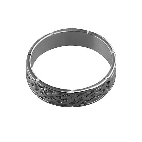 Platinum 6mm Celtic Wedding Ring Size Z