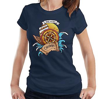 Carribean Lost At Sea Compass Women's T-Shirt