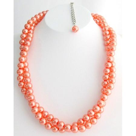 Wedding Bridal Bridesmaid Gifts Mothers Day Orange Pearl