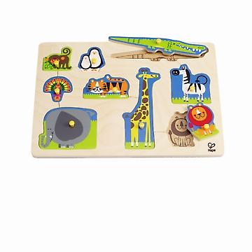 HAPE E1403 Wild Animals Peg Puzzle E1403