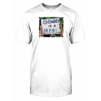 Snowden is a Hero - World Can't Wait for Truth Kids T Shirt