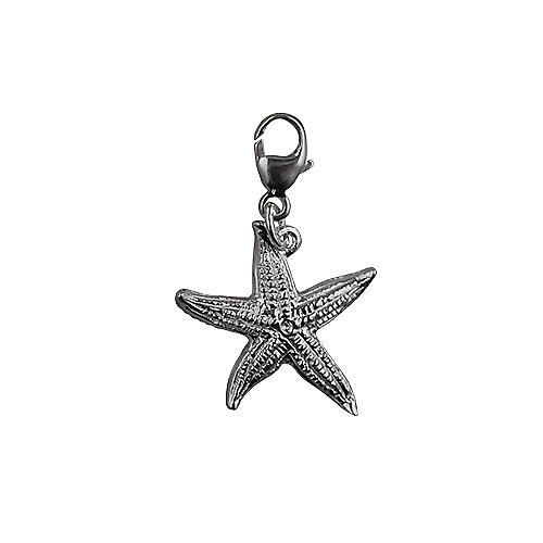 Silver 19x19mm Starfish Charm with a lobster catch