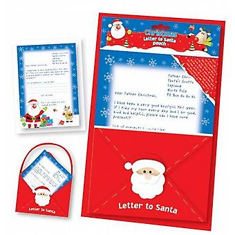 2 Letter To Santa Wish List In Felt Hanging Pouch - (SBLT)