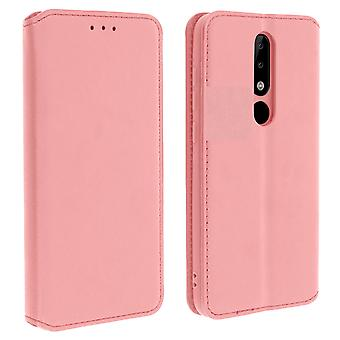 Slim Case, Classic Edition stand case with card slot Nokia 5.1 Plus - Pink Gold