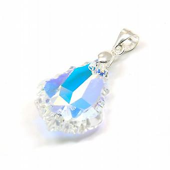 The Olivia Collection Crystal Tear Drop Pendant on 18 Inch Chain