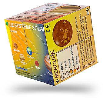 ZooBooKoo French Planets Solar System Statistics Cubebook - Fold-Out Cube