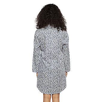 Cyberjammies 4187 Women's Laura Grey Mix Animal Print Cotton Nightshirt