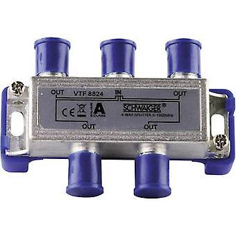 Schwaiger VTF8824 Cable TV distributor 4-way 5 - 1000 MHz