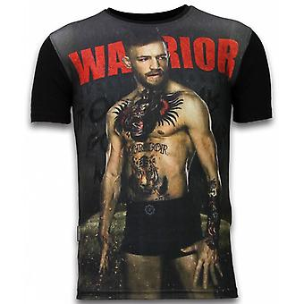 McGregor Warrior-Digital rhinestone T-shirt-svart