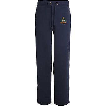 East Lancashire Regiment - Licensed British Army Embroidered Open Hem Sweatpants / Jogging Bottoms