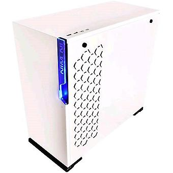 Inwin 101 cabinet midi-tower tempered white glass