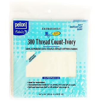 300 Thread Count Cotton Fabric For Embroidery-Ivory 20
