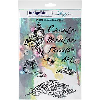 IndigoBlu Cling Mounted Stamp-Plume IND0142