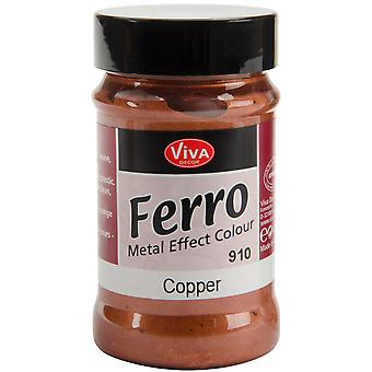 Ferro Metal Effect Textured Paint 3 Ounces Copper Vvferro 2910