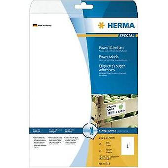 HERMA Labels A4 210x297 mm white extra strong adhesion paper matt 25 pcs Herma 10911