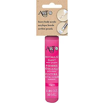 Art-C Heavy Body Acrylic Paint 30ml-Metallic Magenta HBA-25994