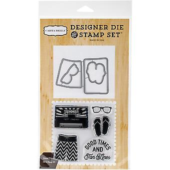 Carta Bella sterven & stempel Combo Set-Good Times-BD54047
