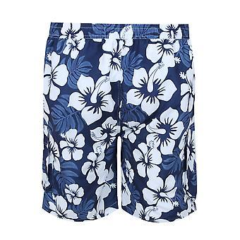 BadRhino Navy & hvid tropiske Print Shorts