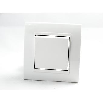 I LumoS AS Luxury White Plastic Arc  Single Frame Rocker Light Switches
