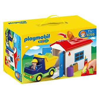 Playmobil 6759 Truck with Garage (Toys , Preschool , Playsets , Vehicles)