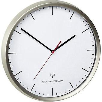 Radio Wall clock TFA 60.3521.02 30.5 cm x 4.8 cm Stainless steel (brushed)