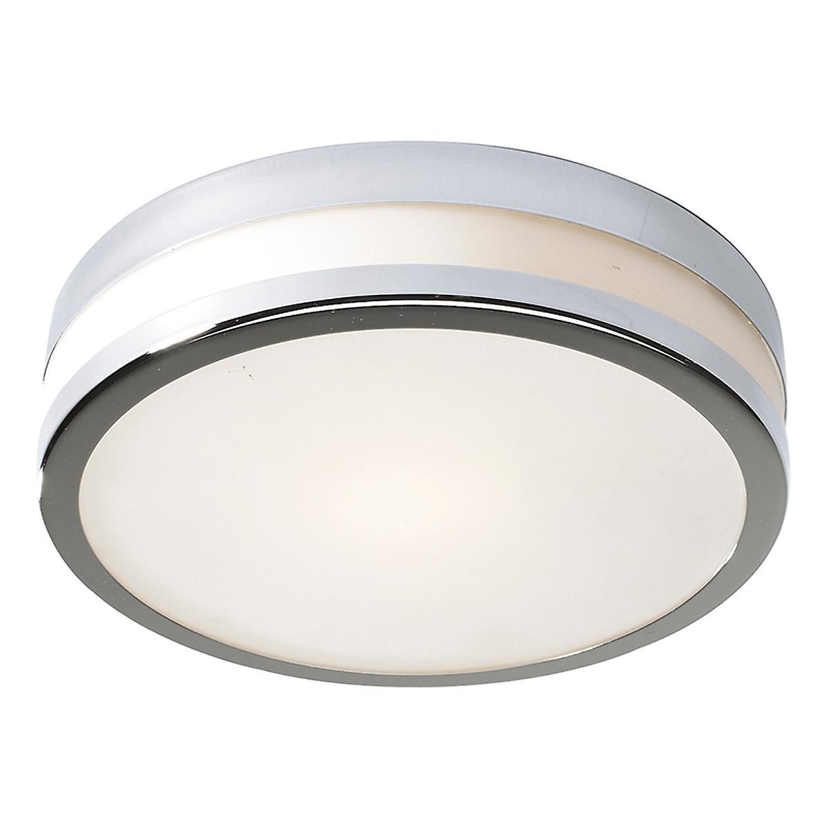Dar CYR5250 Cyro Modern Chrome Small Bathroom Flush Ceiling Light