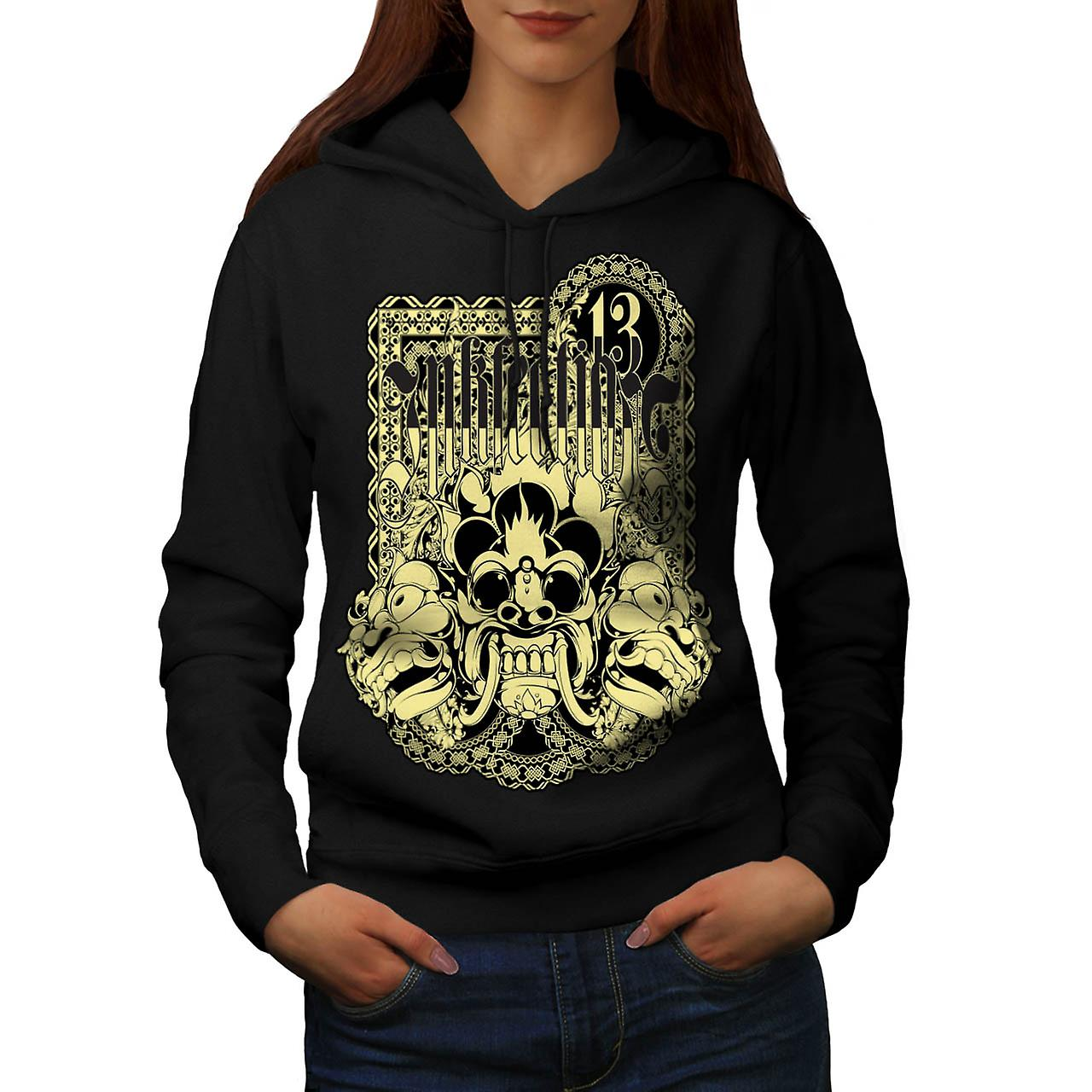 Encre de tatouage d'Infection chanceux masque femme Black Hoodie | Wellcoda