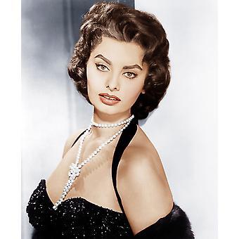 Sophia Loren Ca 1957 fotoutskrift