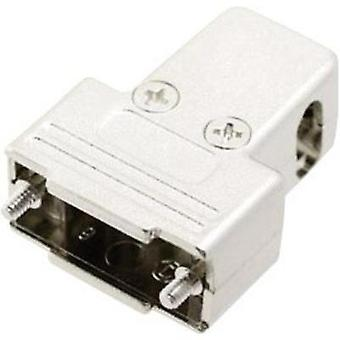 D-SUB housing Number of pins: 9 Plastic, metallised 180 °, 45 °, 45 ° Silver MH Connectors MHTRI-M-09-K 1 pc(s)