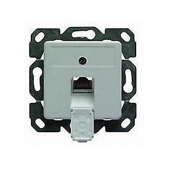 Network outlet Flush mount Insert with main panel CAT 5e 1 port