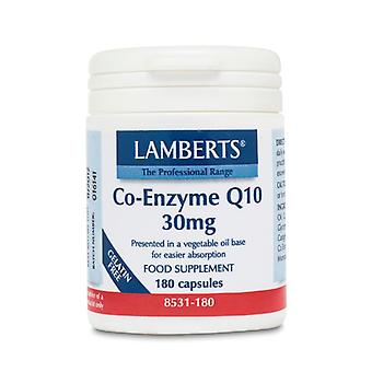 Lamberts Co-Enzyme Q10 30mg, 180 capsules