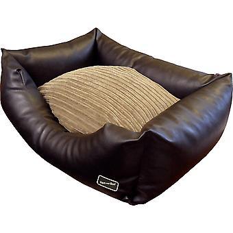 HEM & Boo Pu læder Sofa Bed Brown 27 x 21 x 12
