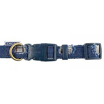 Indulgence Nylon Adjustable Collar Patchwork Blue 20-30cm Sz 1-2