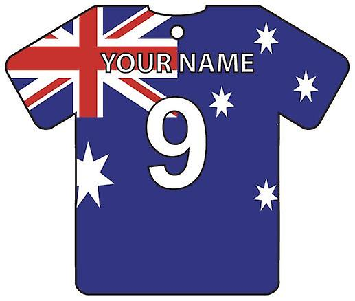 Personalised Australia Flag Jersey Car Air Freshener