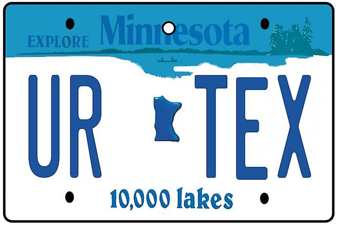 Personalised Minnesota Numberplate Car Air Freshener