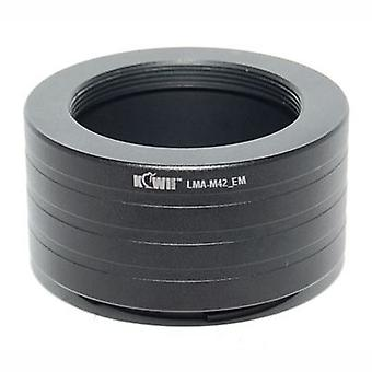 Kiwifotos Lens Mount Adapter: Allows M42 Screw Mount Lenses (Pentax, Praktica, Mamiya, Zeiss and Zenit) to be used on any Sony E-Mount Camera Body - NEX-3, NEX-5, NEX-5N, NEX-7, NEX-C3