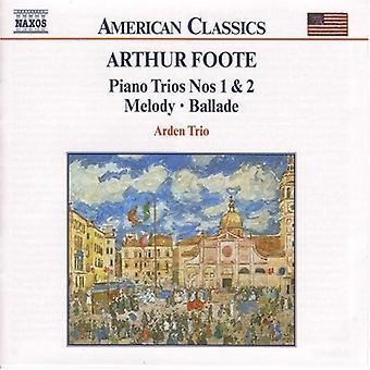 A. Foote - Arthur Foote: Piano Trios 1 & 2; Melodin; Ballade [CD] USA import