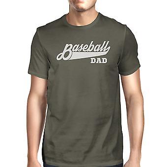 Coton gris foncé chemise drôle baseball papa masculin cadeaux fête des pères