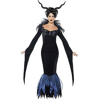 Dark Lady Raven Halloween Kleid Dunkle Dame